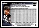 2010 Topps Update #36  Omar Vizquel  Back Thumbnail