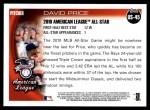 2010 Topps Update #45  David Price  Back Thumbnail