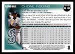2010 Topps Update #105  Chone Figgins  Back Thumbnail