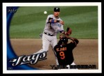 2010 Topps Update #98  Yunel Escobar  Front Thumbnail