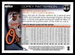 2010 Topps Update #31  Corey Patterson  Back Thumbnail