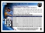 2010 Topps Update #112  Chad Qualls  Back Thumbnail