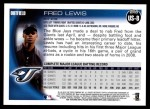 2010 Topps Update #8  Fred Lewis  Back Thumbnail
