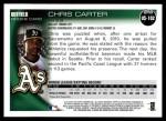2010 Topps Update #102  Chris Carter  Back Thumbnail