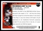 2010 Topps Update #170  Carl Crawford  Back Thumbnail
