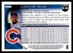 2010 Topps Update #204  Carlos Silva  Back Thumbnail