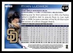 2010 Topps Update #169  Ryan Ludwick  Back Thumbnail