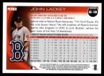 2010 Topps Update #190  John Lackey  Back Thumbnail