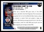 2010 Topps Update #260  Andre Ethier  Back Thumbnail