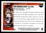 2010 Topps Update #325  Ian Kinsler  Back Thumbnail