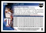 2010 Topps Update #300  Cliff Lee  Back Thumbnail