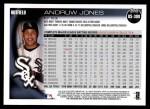 2010 Topps Update #309  Andruw Jones  Back Thumbnail