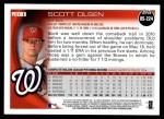 2010 Topps Update #224  Scott Olsen  Back Thumbnail