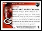 2010 Topps Update #317  Mike Leake  Back Thumbnail