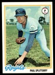 1978 Topps #638  Paul Splittorff  Front Thumbnail