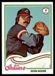 1978 Topps #398  Don Hood  Front Thumbnail