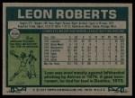 1977 Topps #456  Leon Roberts  Back Thumbnail