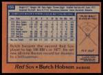 1978 Topps #155  Butch Hobson  Back Thumbnail