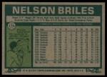 1977 Topps #174  Nelson Briles  Back Thumbnail