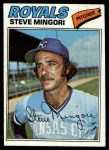 1977 Topps #314  Steve Mingori  Front Thumbnail