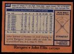 1978 Topps #438  John Ellis  Back Thumbnail
