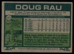 1977 Topps #421  Doug Rau  Back Thumbnail