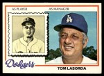 1978 Topps #189  Tommy Lasorda  Front Thumbnail