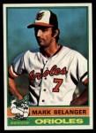 1976 Topps #505  Mark Belanger  Front Thumbnail
