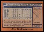 1978 Topps #261  Tim Hosley  Back Thumbnail