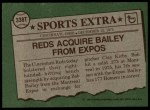 1976 Topps Traded #338 T Bob Bailey  Back Thumbnail