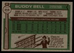 1976 Topps #358  Buddy Bell  Back Thumbnail