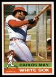 1976 Topps #110  Carlos May  Front Thumbnail