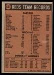 1972 Topps #651   Reds Team Back Thumbnail