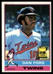 1976 Topps #313  Dan Ford  Front Thumbnail