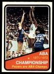 1972 Topps #247   ABA Championship Statistics Front Thumbnail
