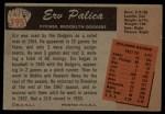 1955 Bowman #195 xTR Erv Palica  Back Thumbnail