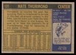 1971 Topps #131  Nate Thurmond  Back Thumbnail