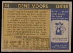 1971 Topps #231  Gene Moore  Back Thumbnail