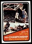 1972 Topps #242   ABA Championship Game #2 Front Thumbnail