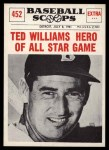 1961 Nu-Card Scoops #452   -   Ted Williams Ted Williams Hero of All-Star Game Front Thumbnail
