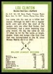 1963 Fleer #6  Lou Clinton  Back Thumbnail
