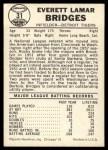 1960 Leaf #31  Rocky Bridges  Back Thumbnail