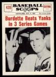 1961 Nu-Card Scoops #435   -   Lew Burdette Burdette Beats Yanks in 3 Series Games Front Thumbnail