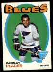 1971 Topps #66  Barclay Plager  Front Thumbnail