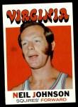 1971 Topps #216  Neil Johnson  Front Thumbnail