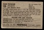 1952 Bowman Small #120  Dan Towler  Back Thumbnail