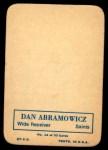 1970 Topps Glossy #14  Dan Abramowicz  Back Thumbnail