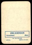 1970 Topps Super Glossy #19  Jimmy Johnson  Back Thumbnail