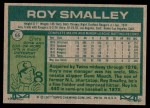 1977 Topps #66  Roy Smalley  Back Thumbnail