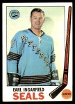 1969 Topps #87  Earl Ingarfield  Front Thumbnail